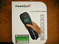 HawkEye Handheld Depth Finder Sonar Water Temperature Depth Fish Air Ice