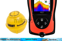 LUCKY Portable Fish Finder Transducer Sonar Sensor 147 Feet Water Depth Finde...