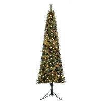 Home Heritage Cashmere 7 Ft Artificial Christmas Tree with LED Lights (Open Box)