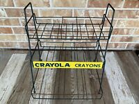 Vintage CRAYOLA CRAYONS Store Display Wire Rack