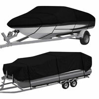 Heavy Duty Waterproof Boat Cover Pontoon V Hull Fishing Ski Bass 11ft 24ft