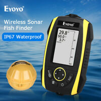 2.4 Inch Wireless Sonar Sunlight Readable Fish Finder Built-in Battery for Lake