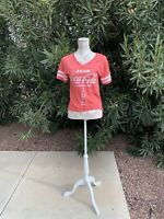 WOMEN Coca Cola Top Sz M Perfect Condition New Without Tags