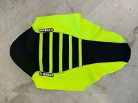 New Yamaha Ribbed Seat Cover Black and Neon Yellow QUAD ATV YFZ450 2010-2020