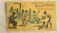 Tansill's Punch Cigars A H Rose Druggist Mpls Mn Black Americana Trade Card 1882