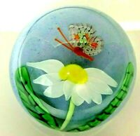 Beautiful Orient & Flume Millefiori Butterfly Paperweight - Excellent condition