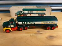 1977 HESS TOY FUEL OIL TANKER TRUCK with Box, Insert, and Paper brand new