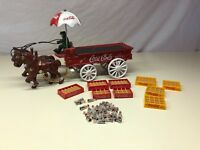 Cast Iron Horse Drawn Coca-Cola Coke Advertising Toy With Accessories