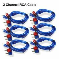 6PCS Car Audio Stereo RCA Interconnect Cable Ultra Flex Male Plug Connector 3 FT $18.99