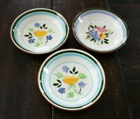 VTG Stangl 2 COUNTRY GARDEN Soup Bowls & 1 FRUIT AND FLOWERS Soup Bowl PAINTED