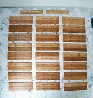 Vintage Lot of 50 ~ Wooden 6'' Rulers BORO HALL ACADEMY ~ ''1950 N.Y.''