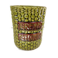 Los Angeles Pottery 1966 Bread Stick Canister Color Green