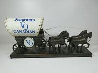 H26/ United Motion Clock Seagram's VO Advertisement Covered Wagon Lamp 1960's