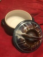 Bill Campbell Gallery Pottery Soup Tureen Lid Baking Casserole Dish Signed