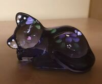 "Fenton Handpainted Sleeping Cat ""Sweet Dreamer"" By J Powell"