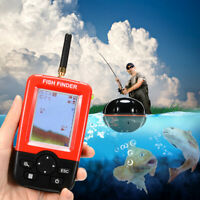 Smart Portable Fish Finder 100m Wireless & Rechargeable Sonar Sensor LCD Display