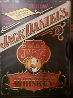 Vintage Jack Daniels Collector Tin with 2 Bottles (Empty) and Original Paperwork