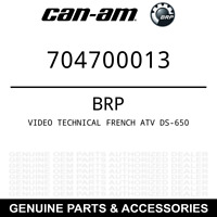 Can-Am BRP OEM Video Technical French Atv Ds-650 704700013