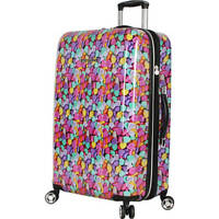 ❤️Betsey Johnson Luggage Hardside 26quot; CANDY HEARTS Suitcase Spinner Wheels❤️