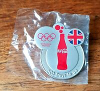 Coca Cola London 2012 Olympics Sponsor Pin Badge 500 Days to Go