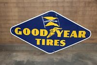1950s Original Goodyear Tires Single Sided Porcelain Advertising Sign