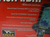 Eagle Fish ID II 2 Finder Boating Electronic Fishfinder With HS-WST Transducer