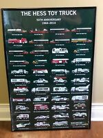 The Hess Toy Truck 50th Anniversary Poster Hess Toy Truck Collector Poster
