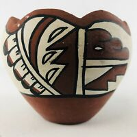Southwest Small Pottery Bowl Handmade Painted Native American Artist Signed
