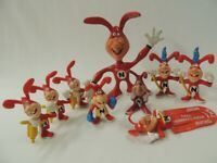 (9) Vintage 1986-89 Avoid the Noid Dominos Claymation Action Figures