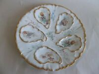 Limoges Oyster Plate Sea Shell Weed Gold Trim GDA Haviland Red Mark Antique A