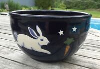 Karen Howell Pottery Rabbit Bunny Under the Stars Moon RARE