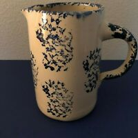 P1542 Blue and White Large Pitcher Storie Pottery Marshall Texas