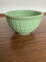 Vintage McCoy Art Pottery green fish scale Design Small Mixing Bowl