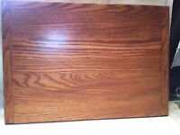 """Vtg Wooden Lazy Susan Kitchen Turntable Board Serving Tray 24""""x 17"""""""