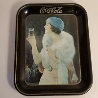 Coca Cola Serving Tray Flapper Party Girl Fox 1925 Vintage Advertising 1973