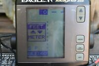 Eagle Magna III 3 Fish Finder Portable with Transducer, power cable, hard case