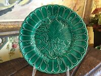 Antique Wedgwood Lighter Green Majolica English Leaf Plate 8 in