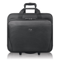 Solo New York Empire Rolling Laptop Bag.  Rolling Briefcase for Women and Men. -