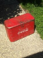 Rare VINTAGE 1950's COCA COLA COKE-A2 PROGRESS  COOLER ICE CHEST Nice