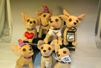 Taco Bell Chihuahua Plush Lot of 7 Vintage