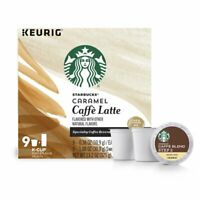 Starbucks Caramel Caffe Latte Coffee K Cup Pods amp; Flavor Pack 9 count