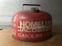Vintage Homelite Jacobsen 2.5 Gallon Metal Gas Can Chainsaw