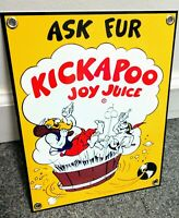 Kickapoo Joy Juice soda pop beverage Sign