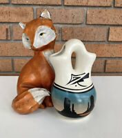 Native American Navajo Southwest Western Pottery Wedding Vase Artist Signed