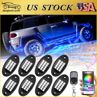 15 Color 6 Mode LED RGB Neon Under Glow Lights Kit for Truck Jeep ATV w/Remote