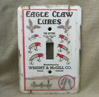 Eagle Claw Lures Metal Light Switch Cover New Rustic Old Tin Sign Look