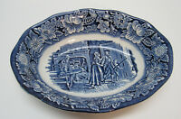 Minute Men Liberty Blue Bowl Scalloped Rim Staffordshire Ironstone England