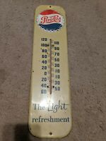 Rare 1955 Embossed Pepsi Bottle Cap Thermometer