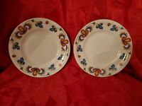 2 FARMERS ROSE Porsgrund Norway Bread & Butter Plates 6 1/4