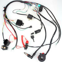 Electric Wiring Harness Wire Loom CDI Stator Kit for 50 70CC 90CC 110CC ATV QUAD
